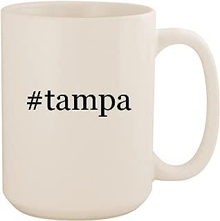 #tampa - White Hashtag 15oz Ceramic Coffee Mug Cup