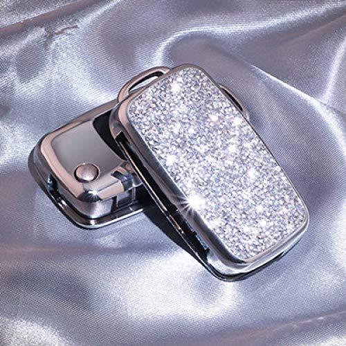 NZGMA Car Key Cover luxe glanzend kristal diamant sleutelhanger voor VW nieuwe Passat Lavida Tiguan POLO Bora geschenken voor vrouwen