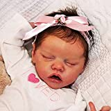 """YANE Reborn Baby Dolls Girl Sleeping 18""""Lovely Real Realista Realista Hecho A Mano Silicona Cuerpo Completo Bebé Niño Recién Nacido Muñeca"""