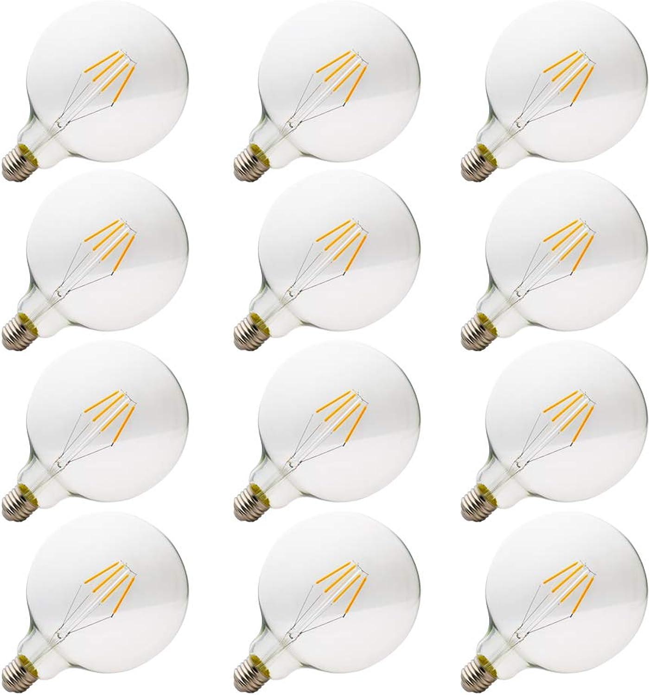 E27 Neue,LED Edison Screw Glühbirnen,Energiesparlampen,umweltfreundlich,(4w,6w,8w) ,AC 220-240V, Sphrische Glühlampe ,2200K Warmes Wei, Klarglas mit hoher, Durchlssigkeit