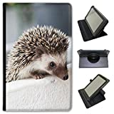 Fancy A Snuggle Prickly Hérisson Simili Cuir Folio Presenter Coque Sac avec Support de visionnage pour tablettes ASUS ASUS ZenPad Z380 8 inch Hedgehog in Pot
