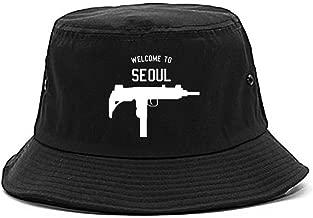 Welcome To Seoul Uzi Machine Gun City Bucket Hat
