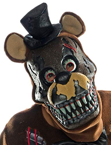 Rubie's Costume Co Men's Five Nights Nightmare Freddy 3/4 Mask, As Shown, One Size