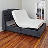 Classic Brands Adjustable Comfort Affordamatic Upholstered Adjustable Bed Base/Foundation, Twin XL