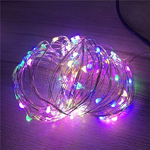 Cadena de luz LED alambre de cobre con pilas decoración del banquete de boda de Navidad cadena de luz LED luces de hadas A3 20m200 leds usb