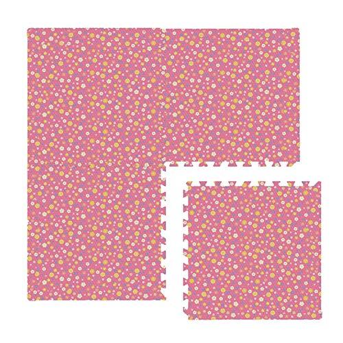 AWSAD Dalles en Mousse Style Pastoral Éviter Tomber Non Toxique Parc D'attractions Tapis De Bébé, 5 Couleurs 60x60x1.2cm (Color : A-Pink, Size : 1-Tiles)