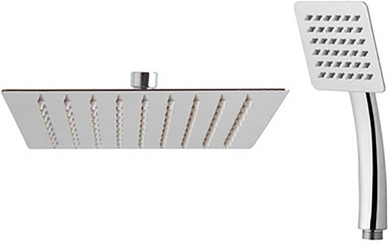 HUASA Bathroom Handheld Showers Set High Pressure Fixed Rainfall Shower Head Extra Large Square