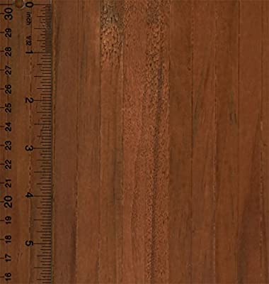 Miniature 1:12 Scale Self Stick Wood Flooring Sheet in Dark Wood (1/2 Inch Slat)