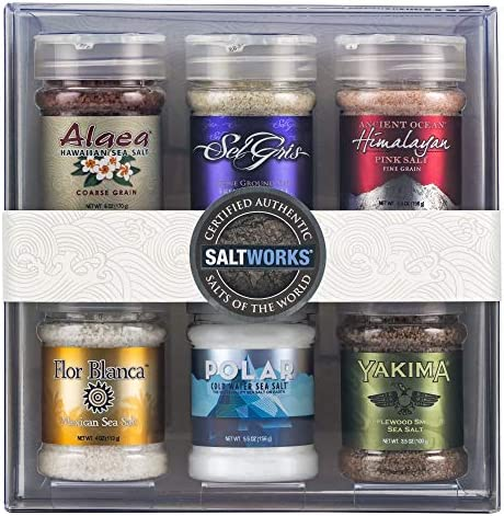 SaltWorks Salts of the World Collection Gift Set Premium Sea Salt Set of 6 39 8 Ounce product image