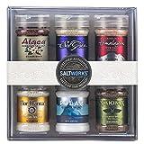 SaltWorks Salts of the World Collection Gift Set, Premium Sea Salt, Set of 6, 39.8 Ounce