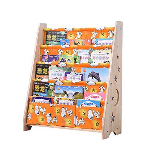 Meubles Étagères pour enfants Porte-revues pour livres pour bébés dans la chambre des enfants Bibliothèque en bois massif pour enfants Étagère à livres simple pour plancher en bois massif Mère organis