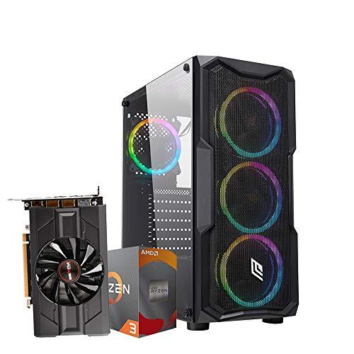 Pc gaming ryzen 3 3100 3.90GHz Max,Scheda video Nitro+ Radeon RX 5500 XT 8G GDDR6, Ram Ddr4 16 Gb,Ssd M.2 500 Gb, Ryzen 3,Windows 10 Computer da gaming assemblato Pc desktop Ryzen 3