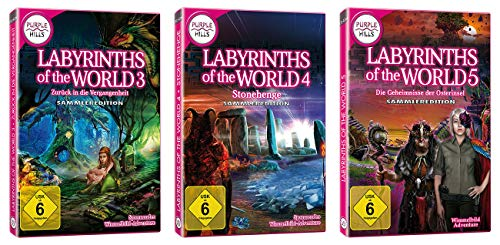 "Yellow Valley 3er-Set Wimmelbild-PC-Spiele ""Labyrinths of the World 3-5"""