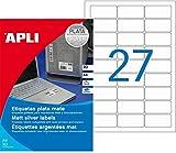 APLI 10070 - Etiquetas, Plata, 20 hojas