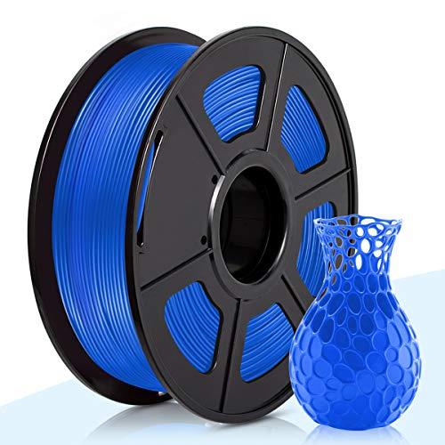 PLA Filamento Azul,3D Warhorse Pla Filamento de Impresion 3D,3D Printer Filament 1.75mm,Dimensional Accuracy +/- 0.02 mm,1KG(Spool),Polylactic Acid Material,1.75mm PLA 3D Printer Filament