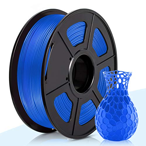 3D Warhorse PLA Filament Blue,PLA Filament 1.75mm,PLA 3D Printer Filament,Dimensional Accuracy +/- 0.02 mm,1KG(Spool),1.75mm Filament