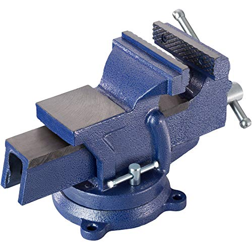 TecTake Schraubstock Amboss 360° drehbar mit Drehteller für Werkbank – diverse Größen – (Spannweite 125 mm | Nr. 401124) - 3