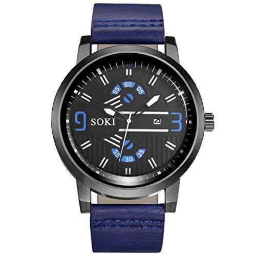 cebbay liquidación Orologio Coppia Afternoon moda Noble Cinghia di nylon analogico quarzo Ronda orologi da polso 50 * 40mm blu