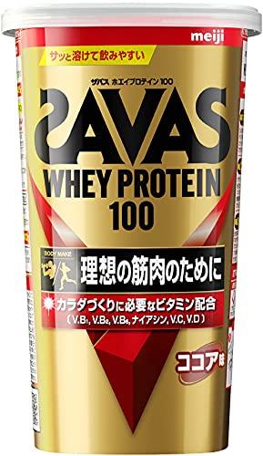 スマートマットライト 明治 ザバス(SAVAS) ホエイプロテイン100 ココア味【14食分】 294g
