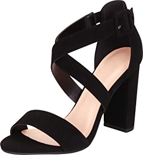 Best black criss cross strappy heels Reviews