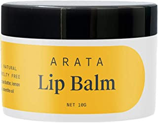 Arata Natural Lip balm (10 gm) for dry, chapped lips with Intense Moisturizing || Power of Cardamom oil || Cocoa & Mango b...