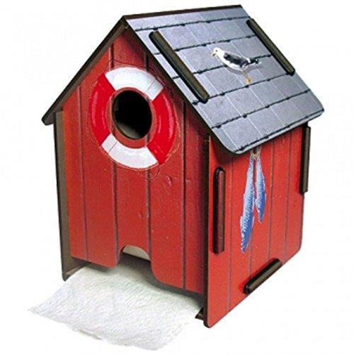 Werkhaus PP5104 ToPaHaus, Holz/MDF, L 18 x B 14.5 x H 14 14,5 x 14,5 cm, h 18 cm, Rot