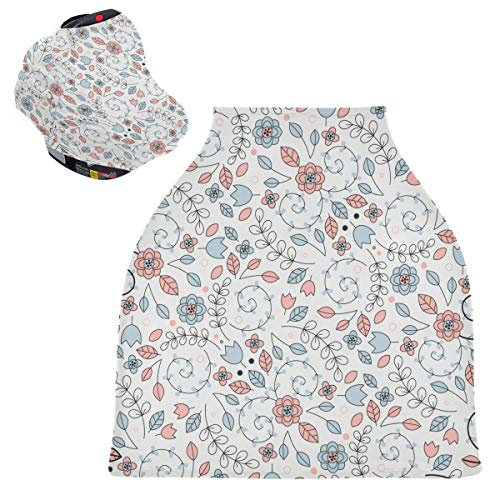 Sinestour Fundas de asiento de coche para bebé, diseño floral