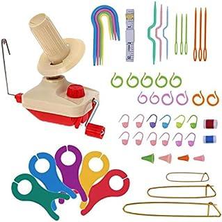 Iycorish Handheld Yarn Winder Swift Fiber String Ball Wool Winder Holder Practical String Winding Machine Sewing Accessories