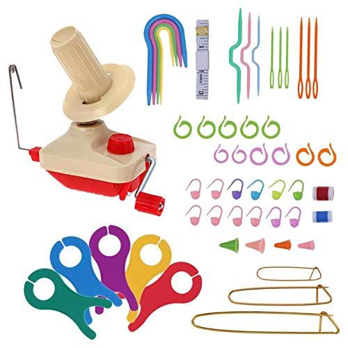 Baalaa Handheld Yarn Winder Swift Fiber String Ball Wool Winder Holder Practical String Winding Machine Sewing Accessories