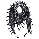 Freak Scene Kefiah - nero - grigio - 100x100 cm - Shemagh - Sciarpa Arafat Foulard kefiah palestinese 100% cotone