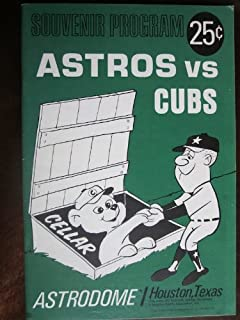 Souvenir Program of 1966 baseball game between Houston Astros and Chicago Cubs.