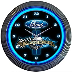 Neonetics Powered by Ford Neon Wall Clock, 15