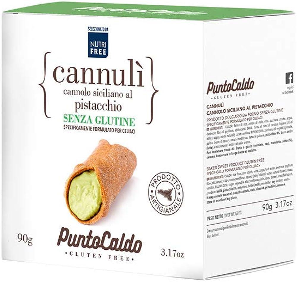 Nutrifree cannulì ,cannolo siciliano al pistacchio  90 g, per persone intolleranti al glutine