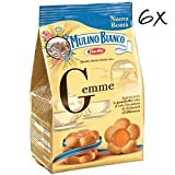 6x Mulino Bianco Gemme Kekse biskuits cookies kuchen mit Aprikosenmarmelade 200