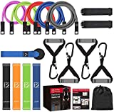 FITINDEX 22Pcs Resistance Bands Set with Handles, Workout Bands Resistance for Women Men, 5 Exercise...