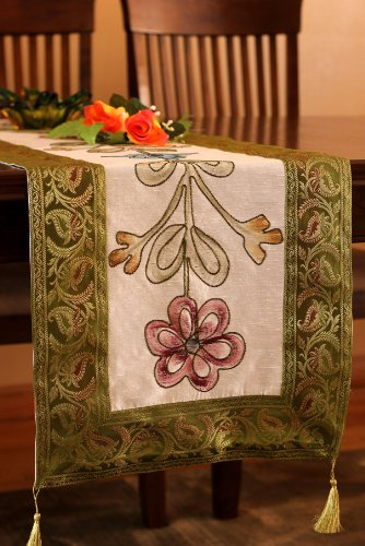 Camino de mesa Floral pintado a mano de lujo