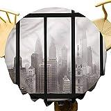 DRAGON VINES Tablecloth Philadelphia City Roof,for Party Diameter 62'