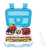 Milopon Bento Box, Lunchbox Kinder, Brotdose Kinder 4 Unterteilungen (Fächer), Spülmaschinengeeignet, Mikrowellengeeignet, BPA Schadstofffrei, Geruchs- und Geschmacksneutral...