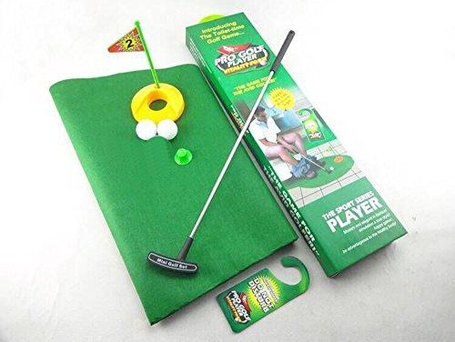 Amasawa Toiletten Golf Set, 6-teilig, Golfschläger, Circa 62 cm,Töpfchen Putter Badezimmer Spiel Neuheit Putting Geschenk Spielzeug Trainer Set. - 2