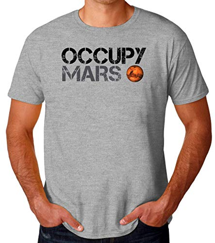 BakoIsland Occupy Mars Space Planet SpaceX T-Shirt pour Hommes Medium