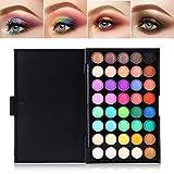 Paleta de sombras de ojos, 40 colores Mineral Pigmento mate