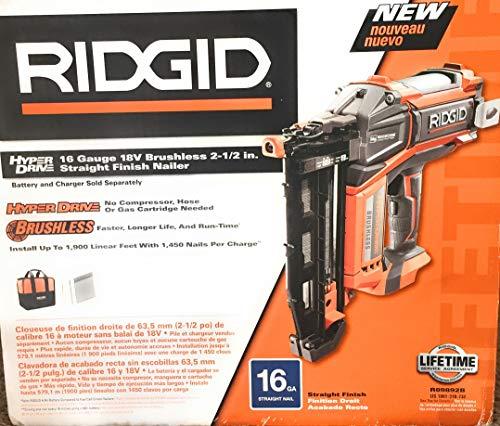 Ridgid HyperDrive 16 Gauge 18v Brushless 2-1/2 In. Straight Finish...