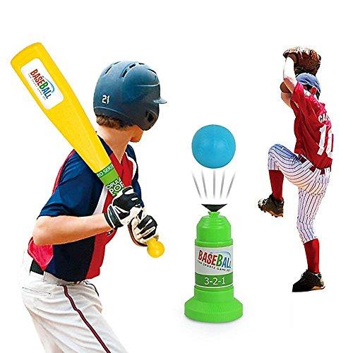 Vjoy Kinder Baseball Trainer Praxis, Automatische Verstellbar Launcher Baseball Educational Freizeit Physical Training Team Sports Spielzeug für Spaß Familie Home & Outdoor Spiel Spielzeug