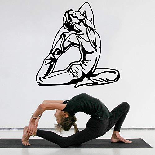 wZUN Yoga Creativo Pared Arte calcomanía habitación de los niños Pegatinas de Pared decoración del hogar 28X28cm