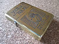 ZIPPO Sherlock Holmes 探偵 シャーロック・ホームズ 1991年8月製造 コナン・ドイル ソリッドブラス オイルライター ジッポ 廃版