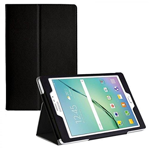 eFabrik Tasche für Samsung Galaxy Tab S2 / Galaxy Tab S2 VE 8.0 Zoll Schutz Hülle Hülle mit Aufstellfunktion Kunstleder schwarz