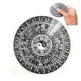 Tai Chi chismes spinning top, juguete de descompresión espejo taoísta talismán afortunado chino Feng Shui Dent bagua convexa, para el hogar negocio ornamento (zodíaco chino)