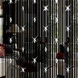 VSTAR66 Cortina de Hilo con Cuentas, Cuentas de Cristal Decorativas, Borla para Ventana, Paneles divisores para Puertas y Ventanas de Fiesta