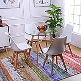ipotius moderno set tavolo da cucina con 4 sedie, tavolo rotondo vetro sala da pranzo e sedie da cucina 4 pezzi