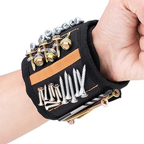 Magnetisches Armband mit 20 Leistungsstarken Magneten JTENG Bestes Männer Geschenke Magnetarmband Handwerker, Geschenke für Halten Werkzeuge Schrauben Nägel Bohrernn (20 Magneten)